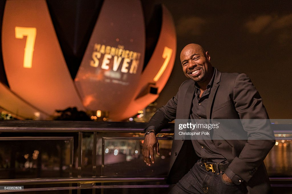 Director Antoine Fuqua poses for a portrait during 'The Magnificent Seven' red carpet and photo call at the ArtScience Museum at Marina Bay Sands on...