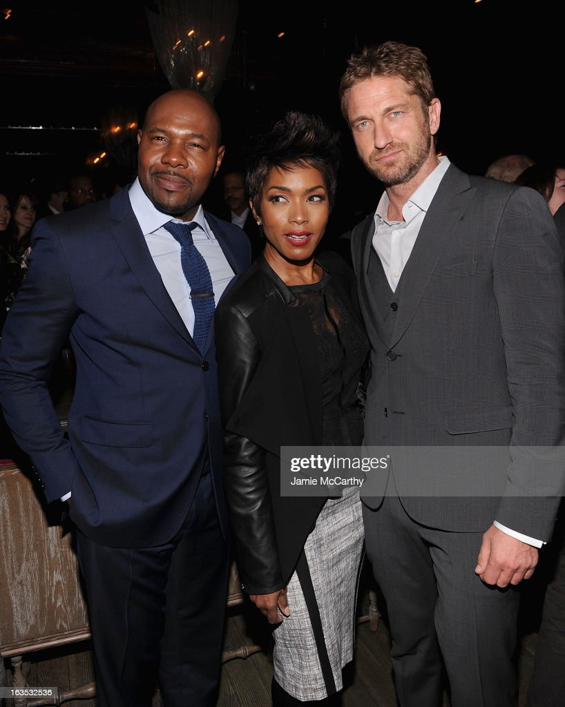 Director <a gi-track='captionPersonalityLinkClicked' href=/galleries/search?phrase=Antoine+Fuqua&family=editorial&specificpeople=2480782 ng-click='$event.stopPropagation()'>Antoine Fuqua</a>,<a gi-track='captionPersonalityLinkClicked' href=/galleries/search?phrase=Angela+Bassett&family=editorial&specificpeople=171174 ng-click='$event.stopPropagation()'>Angela Bassett</a> and <a gi-track='captionPersonalityLinkClicked' href=/galleries/search?phrase=Gerard+Butler&family=editorial&specificpeople=202258 ng-click='$event.stopPropagation()'>Gerard Butler</a> attend the after party for The Cinema Society with Roger Dubuis and Grey Goose screening of FilmDistrict's 'Olympus Has Fallen' at The Darby on March 11, 2013 in New York City.