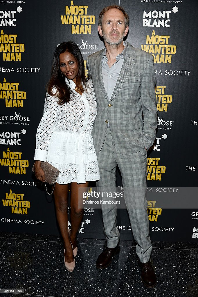 Director Anton Corbijn (R) and Nimi Ponnudurai attend Lionsgate and Roadside Attraction's premiere of 'A Most Wanted Man' hosted by The Cinema Society and Montblanc at the Museum of Modern Art on July 22, 2014 in New York City.