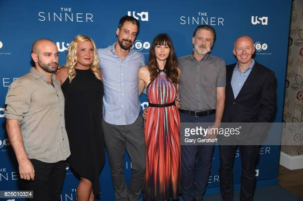 Director Antonio Campos executive producers Michelle Purple and Derek Simonds actors Jessica Biel and Bill Pullman and President NBC Entertainment...