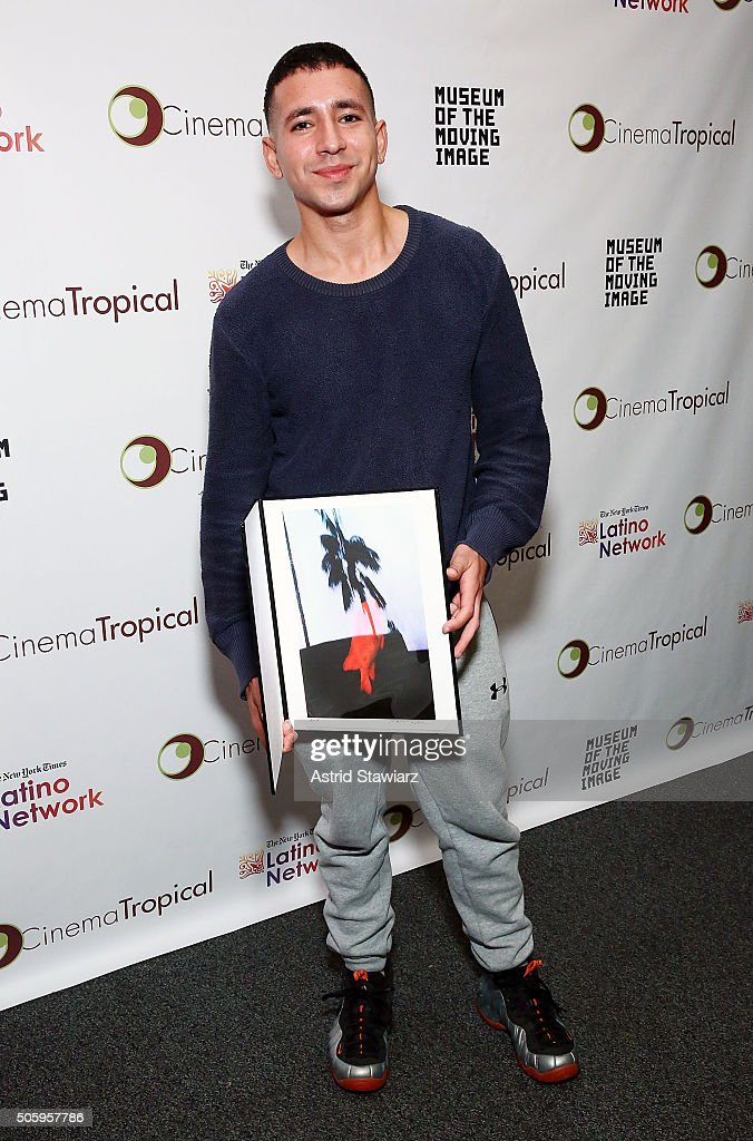 Director Antonio Santini holds a best US latino film award for 'Mala Mala' during the 6th Annual Cinema Tropical Awards at The New York Times...