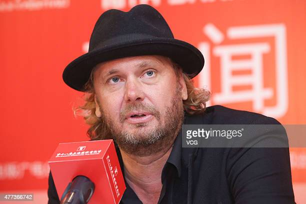 Director Antti Jokinen attends 'The Midwife' press conference as part of 18th Shanghai International Film Festival at Crowne Plaza on June 16 2015 in...