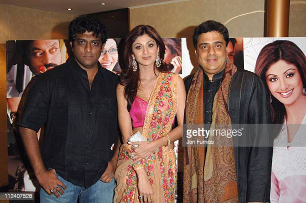 Director Anurag Basu Shilpa Shetty and producer Ronnie Screwvala