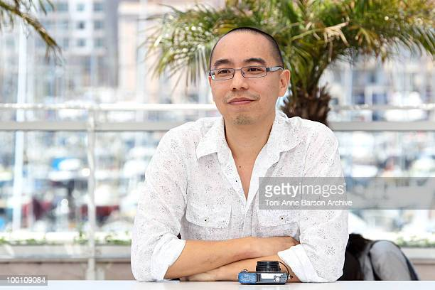 Director Apichatpong Weerasethakul attends the 'Uncle Bonmee Who Can Recall His Past Lives' Photo Call held at the Palais des Festivals during the...