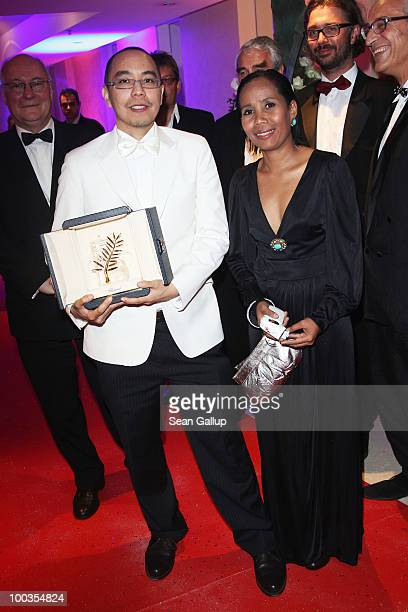 Director Apichatpong Weerasethakul winner of the Palme d'Or award for the film 'Uncle Boonmee Who Can Recall His Past Lives' and actress Wallapa...