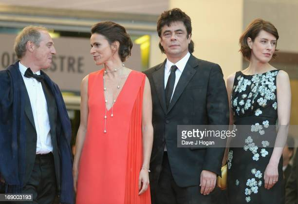 Director Arnaud Desplechin French Culture Minister Aurelie Filippetti actor Benicio Del Toro actress Gina McKee and writer Kent Jones attend the...
