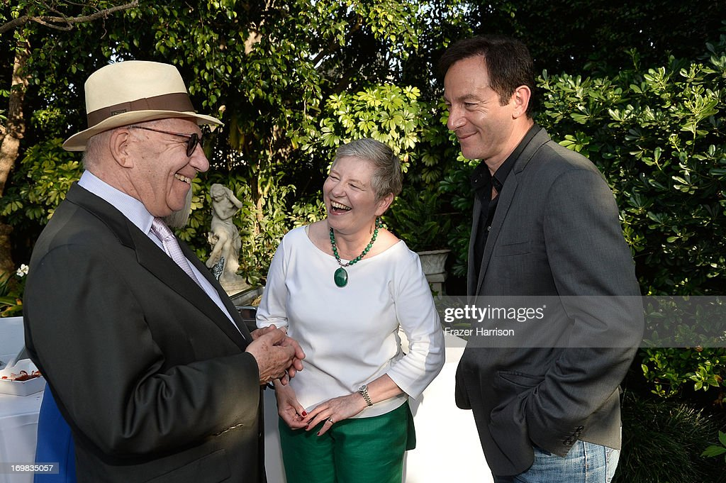 Director Arnold Schwartzman British Consul General Dame Barbara Hay and actor Jason Isaacs attend the 26th Annual BAFTA LA Garden Party at the British Consuls General Residence on June 2, 2013 in Los Angeles, California.