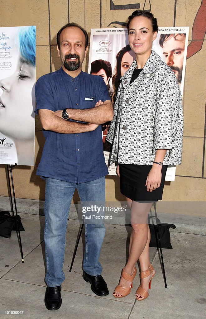 Director <a gi-track='captionPersonalityLinkClicked' href=/galleries/search?phrase=Asghar+Farhadi&family=editorial&specificpeople=5700577 ng-click='$event.stopPropagation()'>Asghar Farhadi</a> and actress Berenice Bejo attend Golden Globe Foreign-Language nominees panel discussion and screening series at American Cinematheque's Egyptian Theatre on January 11, 2014 in Hollywood, California.
