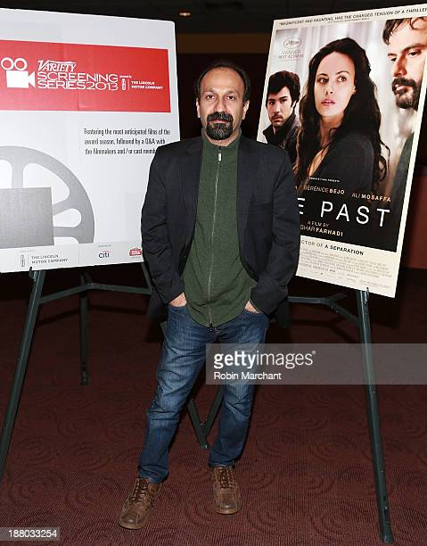 Director Asghar Farhadi attends 2013 Variety Screening Series presentation of 'The Past' at Chelsea Bow Tie Cinemas on November 14 2013 in New York...