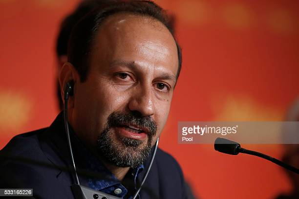 Director Ashgar Farhadi attends 'The Salesman ' Press Conference during the 69th annual Cannes Film Festival at the Palais des Festivals on May 21...