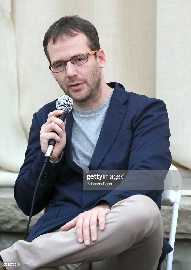 Director Assaf Banitt speaks at the Social Justice Documentaries at the Engel and Völkers Pavillion at the Lobero during the 31st Santa Barbara International Film Festival on February 8, 2016 in Santa Barbara, California.