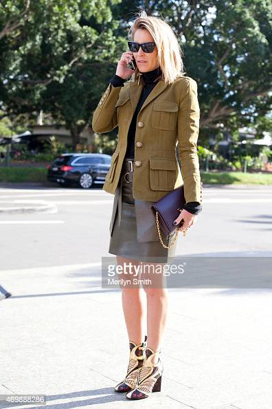 Director at Oracle Fox Amanda Shadforth at MercedesBenz Fashion Week Australia 2015 at Carriageworks on April 16 2015 in Sydney Australia