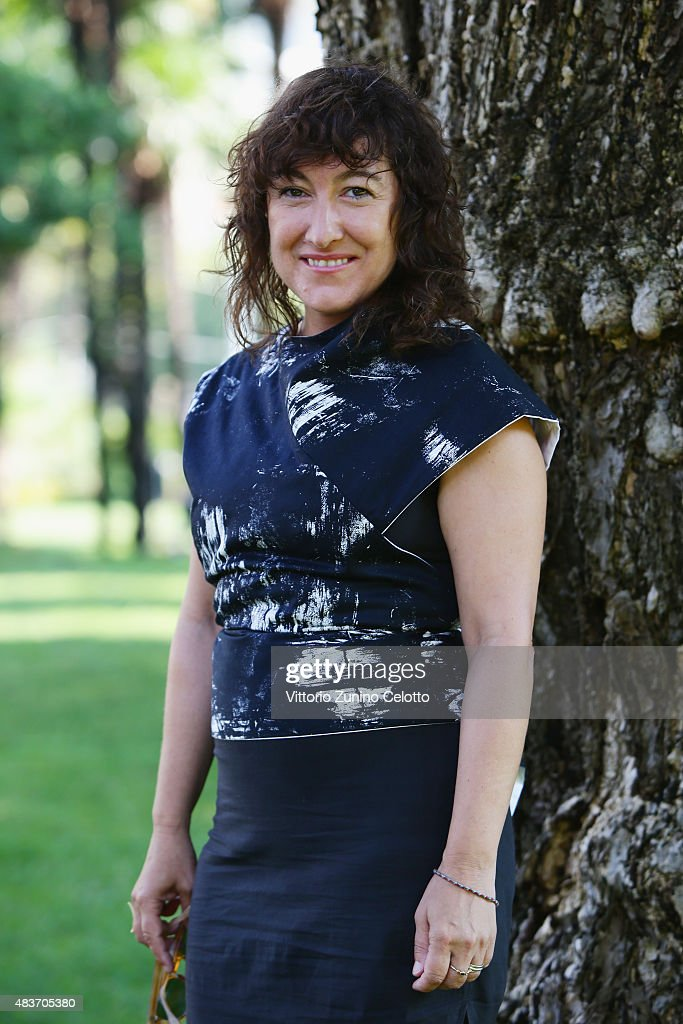 Director Athina Tsangari attends Chevalier photocall on August 12, 2015 in Locarno, Switzerland.