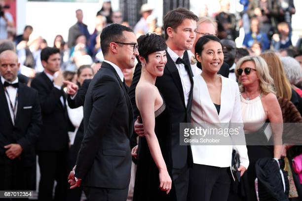 Director Atsuko Hirayanagi Shinobu Terajima and Josh Hartnett of 'Oh Lucy' attend 'The Killing Of A Sacred Deer' premiere during the 70th annual...