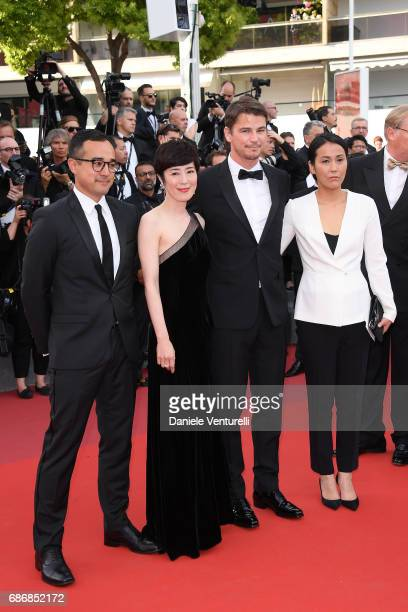 Director Atsuko Hirayanagi Shinobu Terajima Josh Hartnett and producer Han West of 'Oh Lucy' attend 'The Killing Of A Sacred Deer' premiere during...