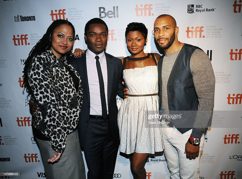 Director Ava DuVernay, actor David Oyelowo, actress Emayatzy Corinealdi and actor Omari Hardwick attend 'Middle Of Nowhere' premiere during the 2012 Toronto International Film Festival at the Scotiabank Theatre on September 12, 2012 in Toronto, Canada.