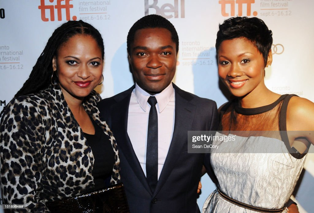 Director Ava DuVernay actor <a gi-track='captionPersonalityLinkClicked' href=/galleries/search?phrase=David+Oyelowo&family=editorial&specificpeople=633075 ng-click='$event.stopPropagation()'>David Oyelowo</a>, and Emayatzy Corinealdi attend 'Middle Of Nowhere' premiere during the 2012 Toronto International Film Festival at the Scotiabank Theatre on September 12, 2012 in Toronto, Canada.