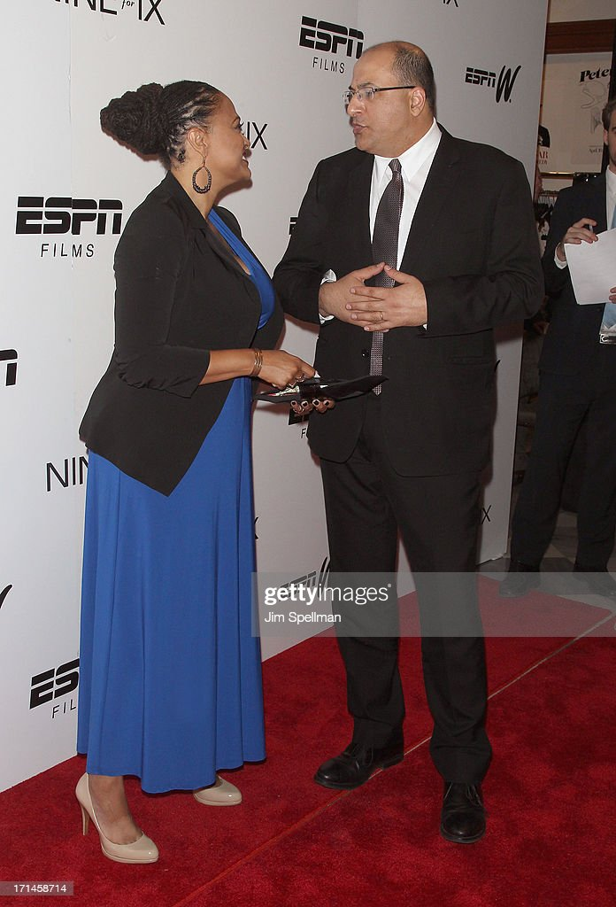 Director Ava DuVernay and Consulate General of Israel in New York Ido Aharoni attend 'Venus Vs' and 'Coach' New York Special Screening at Paley...
