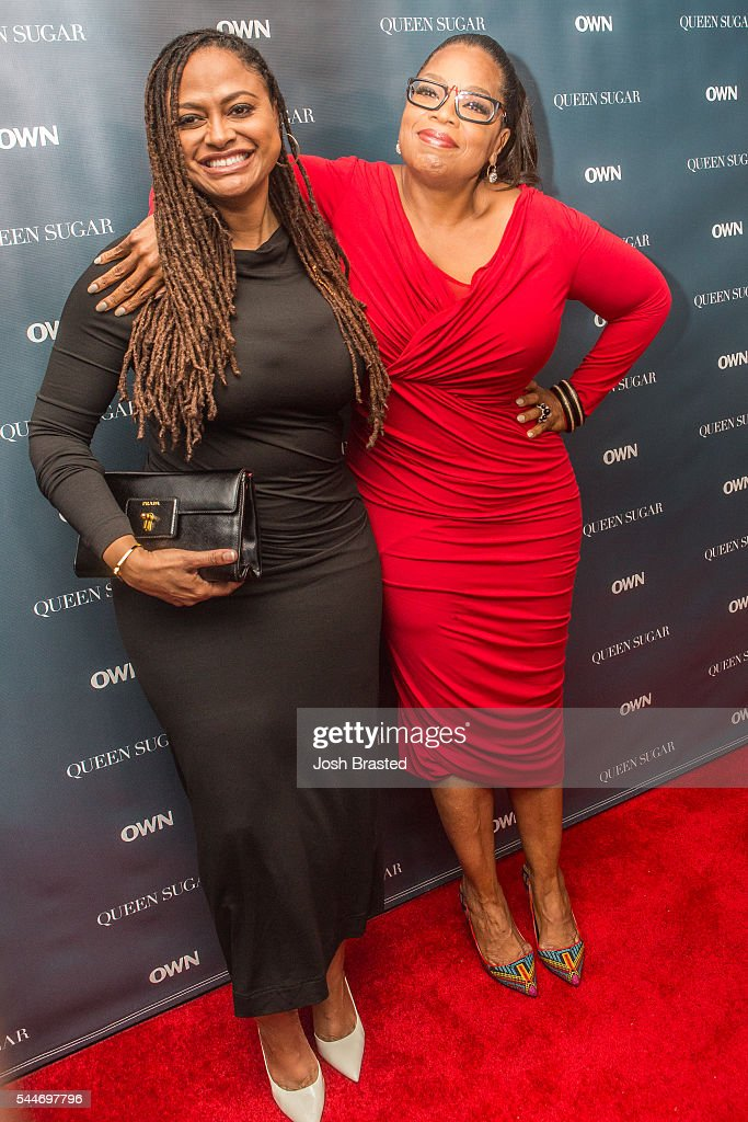 Director Ava DuVernay and Oprah Winfrey attend a cocktail reception for 'Queen Sugar' at Liberty Kitchen on July 2 2016 in New Orleans Louisiana