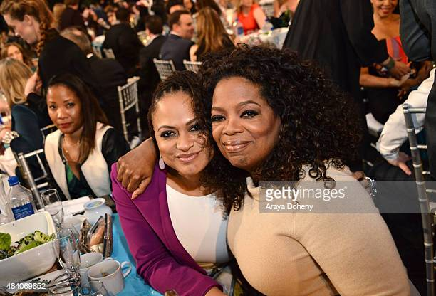Director Ava DuVernay and Oprah Winfrey attend the 2015 Film Independent Spirit Awards at Santa Monica Beach on February 21 2015 in Santa Monica...