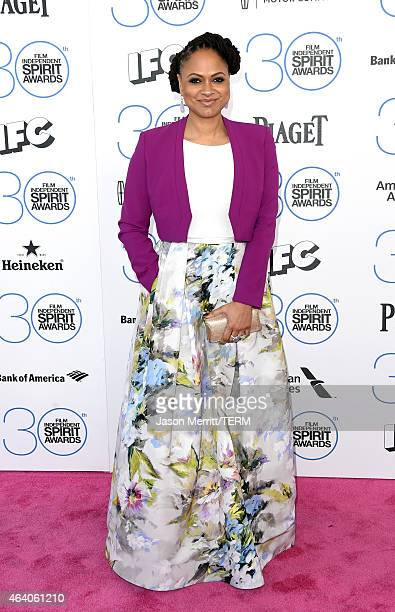 Director Ava DuVernay attends the 2015 Film Independent Spirit Awards at Santa Monica Beach on February 21 2015 in Santa Monica California