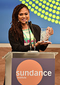 Director Ava DuVernay speaks onstage at the 2015 Sundance Institute Celebration Benefit at 3LABS on June 2 2015 in Culver City California