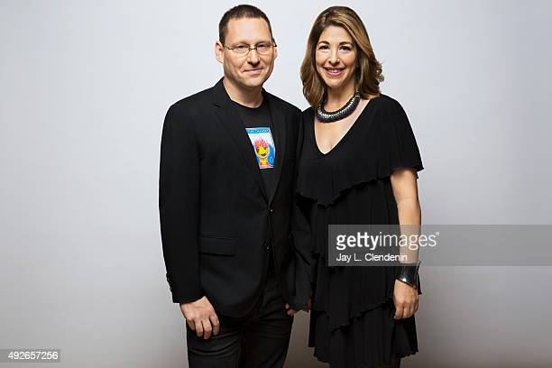 Director Avi Lewis and his wife Naomi Klein from the film 'This Changes Everything' are photographed for Los Angeles Times on September 25 2015 in...