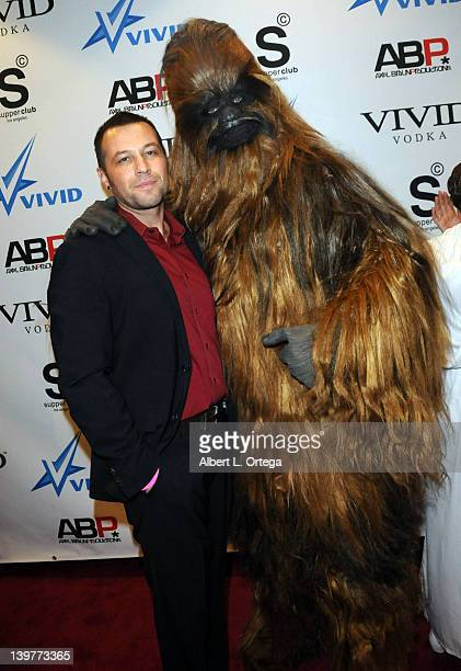 Director Axel Braun and Chewbacca arrive for the Premiere Of Vivid Entertainment's 'Star Wars XXX A Porn Parody' held at SupperClub on February 23...