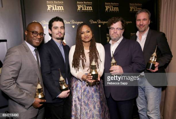 Director Barry Jenkings director Damien Chazelle director Ava DuVernay director Kenneth Lonergan and director Denis Villeneuve speak onstage at the...