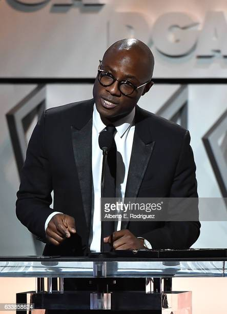 "Director Barry Jenkins accepts the Feature Film Nomination Plaque for ""Moonlight' onstage during the 69th Annual Directors Guild of America Awards at..."