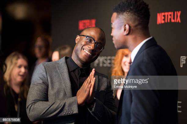 Director Barry Jenkins and actor Marque Richardson arrive at Netflix's 'Dear White People' FYC event at Netflix FYSee Space on June 4 2017 in Beverly...