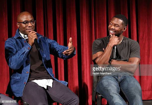 Director Barry Jenkins and actor Trevante Rhodes attend The Academy of Motion Picture Arts and Sciences hosts an Official Academy screening of...