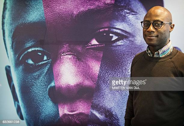 US director Barry Jenkins poses during the press day of his movie Moonlight at the International Film Festival in Rotterdam The Netherlands on...