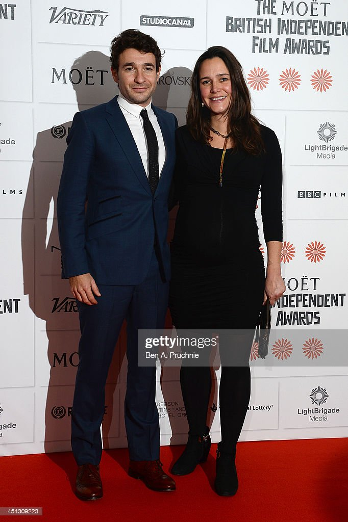 Director Bart Layton (L) arrives on the red carpet for the Moet British Independent Film Awards at Old Billingsgate Market on December 8, 2013 in London, England.