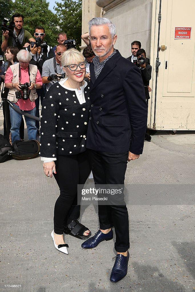 Director Baz Luhrman (R) attends the Chanel show as part of Paris Fashion Week Haute-Couture Fall/Winter 2013-2014 at Grand Palais on July 2, 2013 in Paris, France.