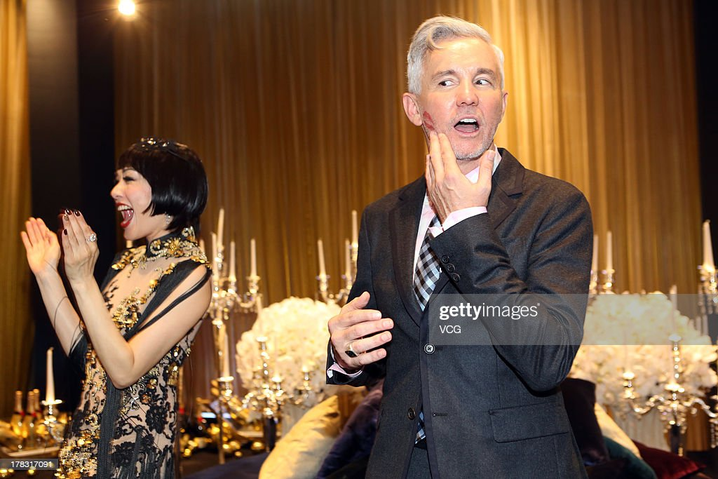 Director <a gi-track='captionPersonalityLinkClicked' href=/galleries/search?phrase=Baz+Luhrmann&family=editorial&specificpeople=209230 ng-click='$event.stopPropagation()'>Baz Luhrmann</a> and actress Christy Chung attend 'The Great Gatsby' premiere at China World Trade Center Tower 3 on August 28, 2013 in Beijing, China.