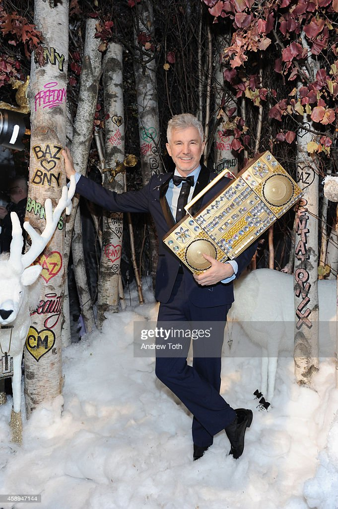 Director Baz Luhrmann attends Barneys New York 'Baz Dazzled' holiday window unveiling dinner at Central Park Zoo on November 13 2014 in New York City