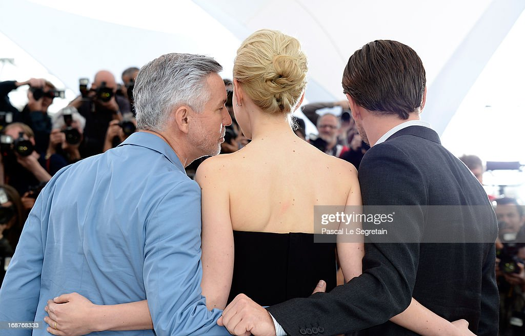 Director Baz Luhrmann, Carey Mulligan and Leonardo DiCaprio attend 'The Great Gatsby' photocall during the 66th Annual Cannes Film Festival at the Palais des Festivals on May 15, 2013 in Cannes, France.