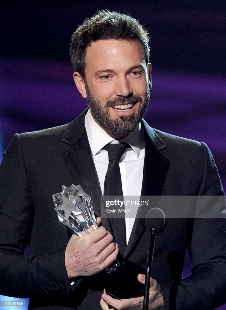 Director Ben Affleck accepts the Best Director Award for 'Argo' onstage at the 18th Annual Critics' Choice Movie Awards held at Barker Hangar on January 10, 2013 in Santa Monica, California.