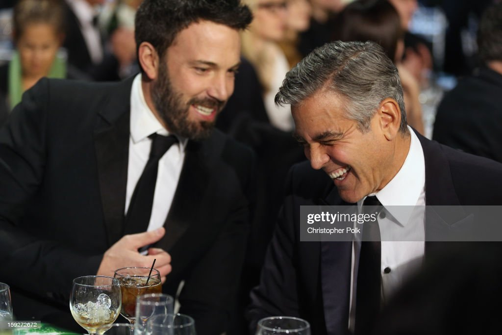 Director <a gi-track='captionPersonalityLinkClicked' href=/galleries/search?phrase=Ben+Affleck&family=editorial&specificpeople=201856 ng-click='$event.stopPropagation()'>Ben Affleck</a> and producer <a gi-track='captionPersonalityLinkClicked' href=/galleries/search?phrase=George+Clooney&family=editorial&specificpeople=202529 ng-click='$event.stopPropagation()'>George Clooney</a> attend the 18th Annual Critics' Choice Movie Awards held at Barker Hangar on January 10, 2013 in Santa Monica, California.