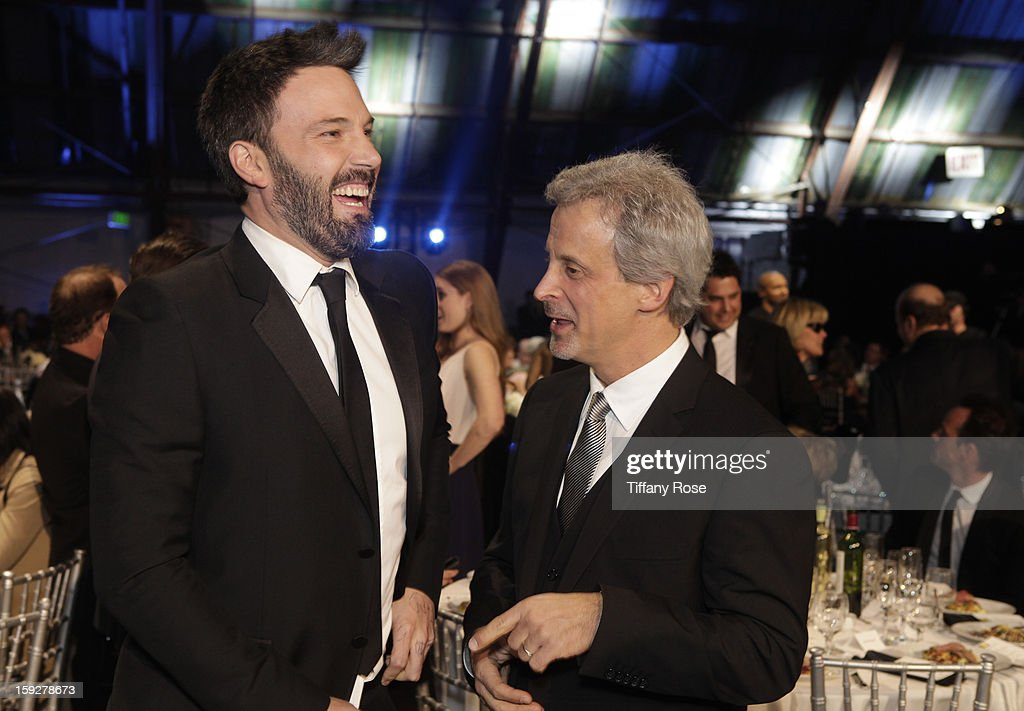 Director <a gi-track='captionPersonalityLinkClicked' href=/galleries/search?phrase=Ben+Affleck&family=editorial&specificpeople=201856 ng-click='$event.stopPropagation()'>Ben Affleck</a> (L) attends the Critics' Choice Movie Awards 2013 with Champagne Nicolas Feuillatte at Barkar Hangar on January 10, 2013 in Santa Monica, California.