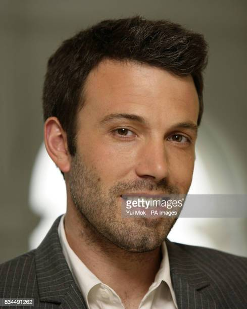 Director Ben Affleck pictured during a photocall for 'Gone Baby Gone' at the Mandarin Oriental hotel in west London