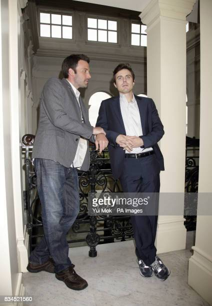 Director Ben Affleck pictured with brother and star of the film Casey Affleck during a photocall for 'Gone Baby Gone' at the Mandarin Oriental hotel...
