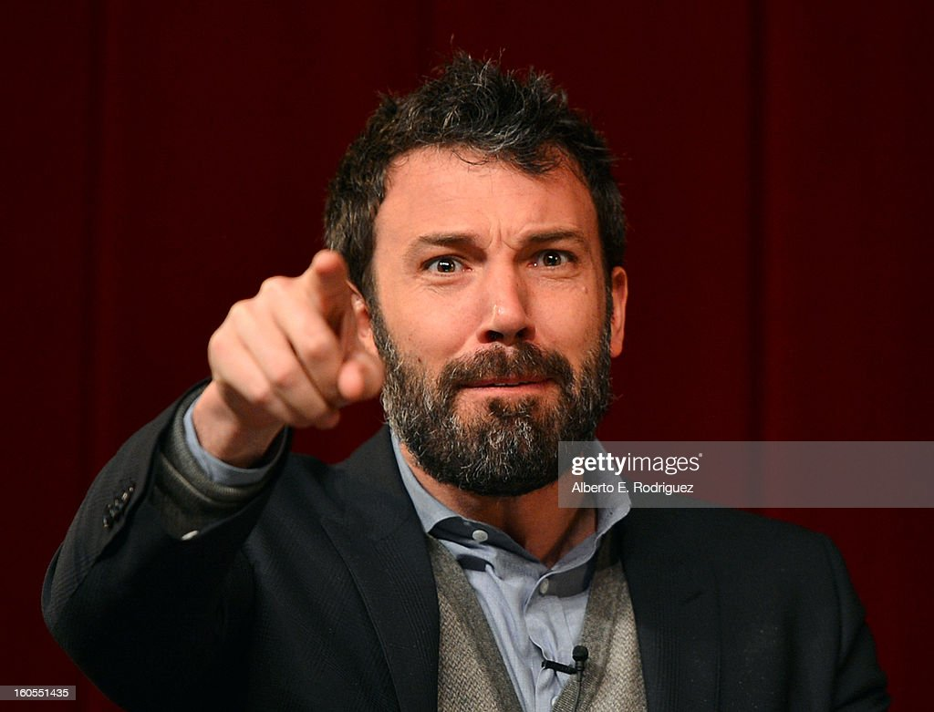 Director Ben Affleck speaks onstage at the 65th Annual Directors Guild of America Awards Feature Film Symposium held at the DGA on February 2, 2013 in Los Angeles, California.