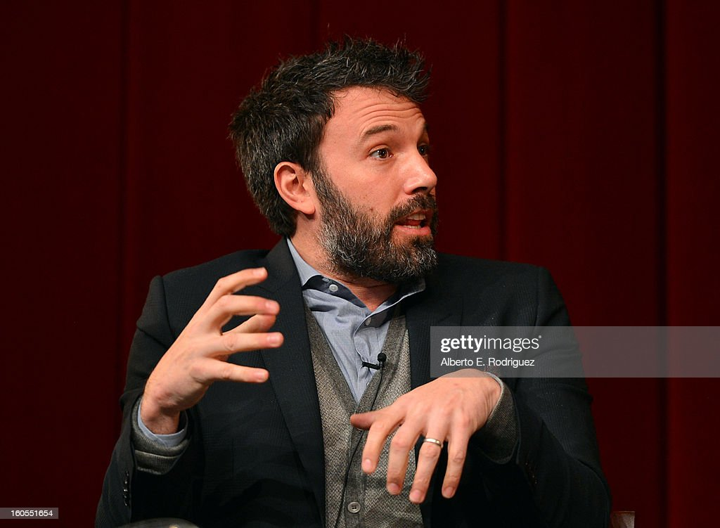 Director <a gi-track='captionPersonalityLinkClicked' href=/galleries/search?phrase=Ben+Affleck&family=editorial&specificpeople=201856 ng-click='$event.stopPropagation()'>Ben Affleck</a> speaks onstage at the 65th Annual Directors Guild of America Awards Feature Film Symposium held at the DGA on February 2, 2013 in Los Angeles, California.