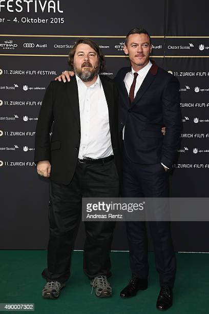 Director Ben Wheatley and actor Luke Evans attend the 'HighRise' Premiere during the Zurich Film Festival on September 25 2015 in Zurich Switzerland...