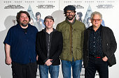 Director Ben Wheatley Reece Shearsmith Dan Skinner and Producer Jeremy Thomas attend preview Screening of 'High Rise' at BFI Southbank on March 14...