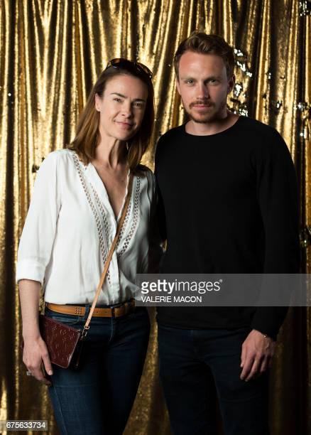 CORRECTION Director Benedicte Delmas and actor Roby Schinasi attend the Colcoa French Film Festival on May 1 2017 in Los Angeles California / AFP...