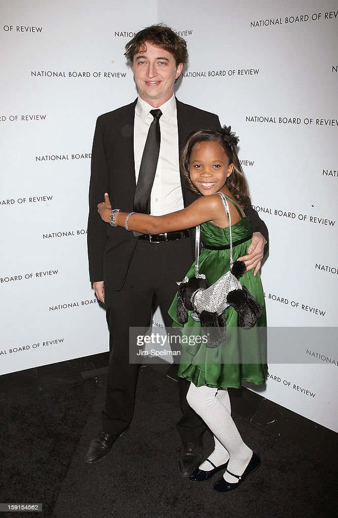Director Benh Zeitlin and actress Quvenzhane Wallis attend the 2013 National Board Of Review Awards Gala at Cipriani Wall Street on January 8, 2013 in New York City.