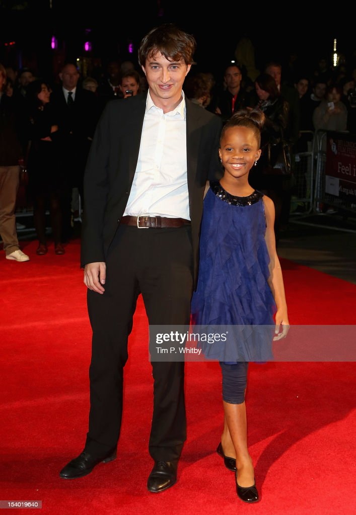 Director <a gi-track='captionPersonalityLinkClicked' href=/galleries/search?phrase=Benh+Zeitlin&family=editorial&specificpeople=6711208 ng-click='$event.stopPropagation()'>Benh Zeitlin</a> and actress Quvenzhane Wallis attend the 'Beasts of the Southern Wild' premiere during the 56th BFI London Film Festival at the Odeon West End on October 12, 2012 in London, England.